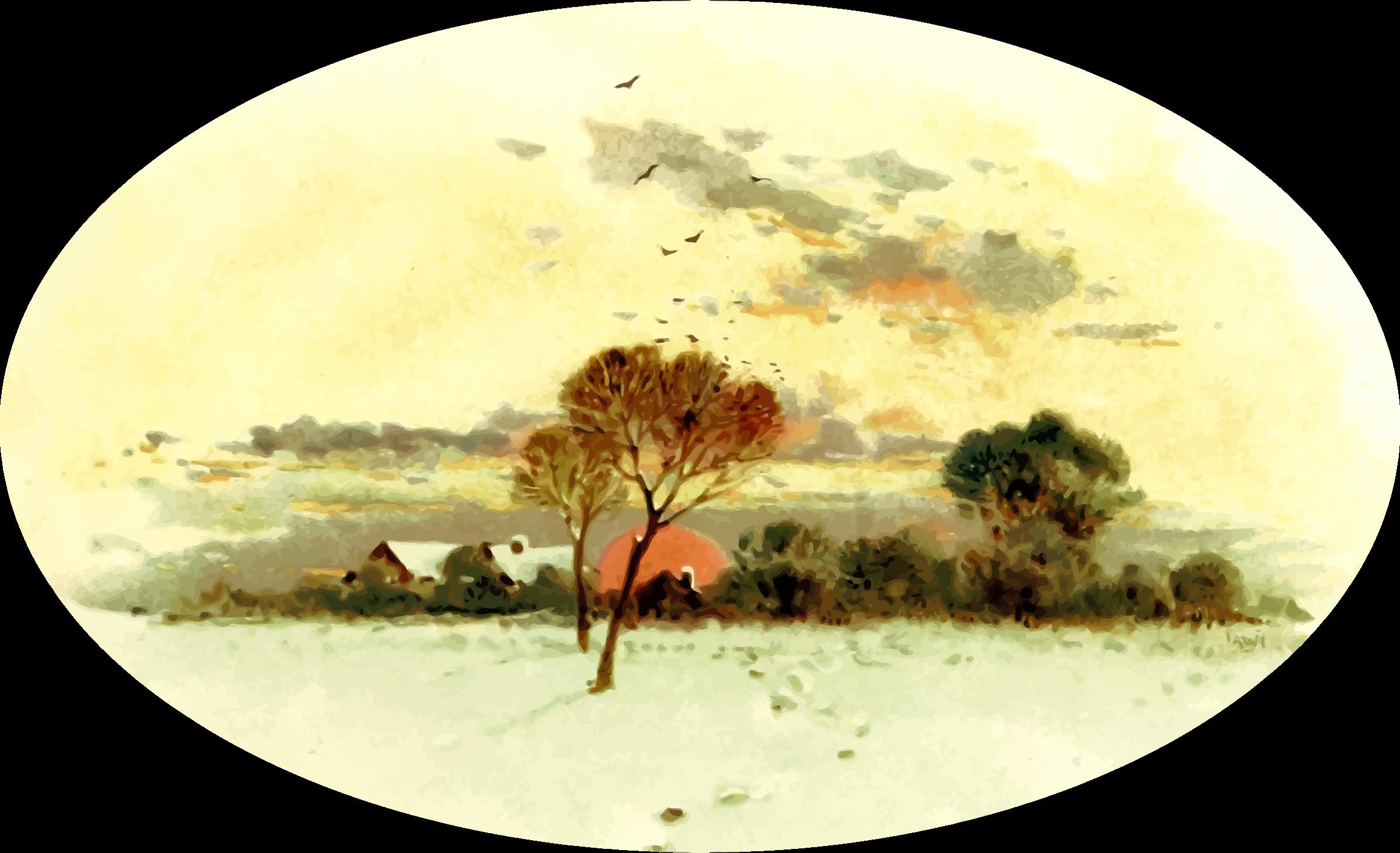 Savanna tree clipart graphic transparent download Clipart - Country scene 6 graphic transparent download