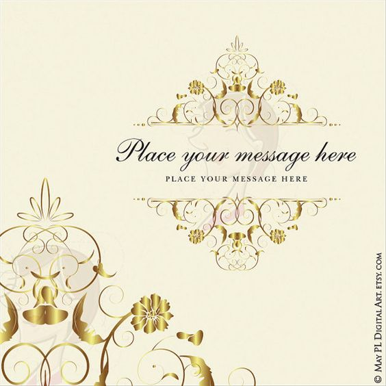 Save clipart as jpeg picture freeuse library Gold Flourish Frame Clipart Clip Art COMMERCIAL USE VECTOR Swirl ... picture freeuse library