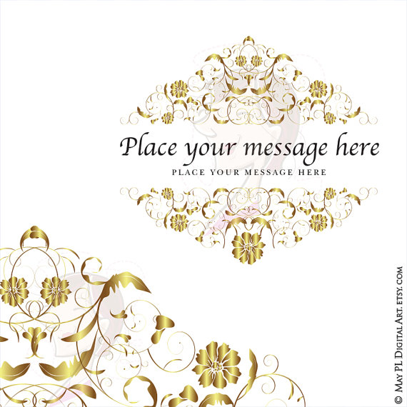 Save clipart as jpeg banner royalty free stock Gold Flourish Frame Clipart Clip Art COMMERCIAL USE VECTOR Swirl ... banner royalty free stock