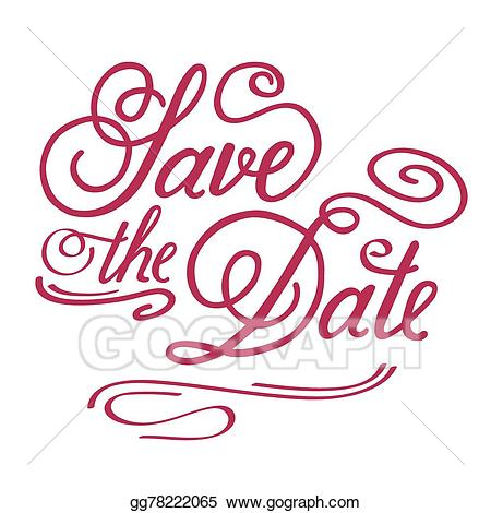 Save clipart in illustrator graphic free library Vector Stock - Save the date. Clipart Illustration ... graphic free library
