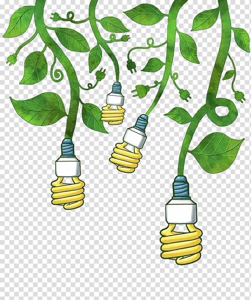 Save electricity clipart picture black and white download CFL bulbs illustration, Electricity Euclidean AC power plugs ... picture black and white download