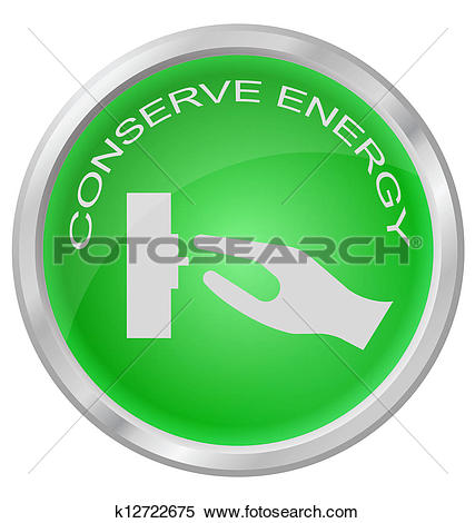 Save energy clipart jpg library stock Clipart of Conserve Energy k6440314 - Search Clip Art ... jpg library stock