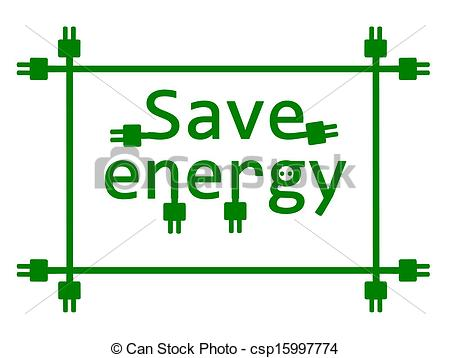 Save energy clipart picture black and white download Vectors Illustration of Save energy. - Save energy - vector ... picture black and white download