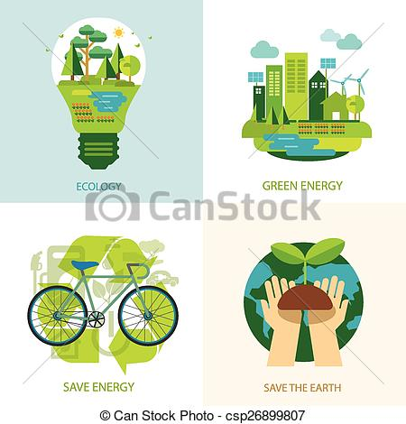 Save energy clipart clip royalty free Vector Clipart of save the world and clean energy concept ... clip royalty free