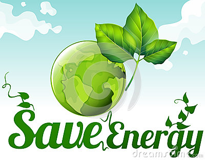 Save energy clipart graphic transparent stock Save Earth. Green Leaf Energy Poster Stock Vector - Image: 76157969 graphic transparent stock
