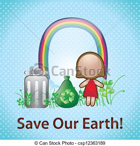 Save energy save environment clipart png free stock Vector of Energy Saving - Save our earth, on blue background ... png free stock