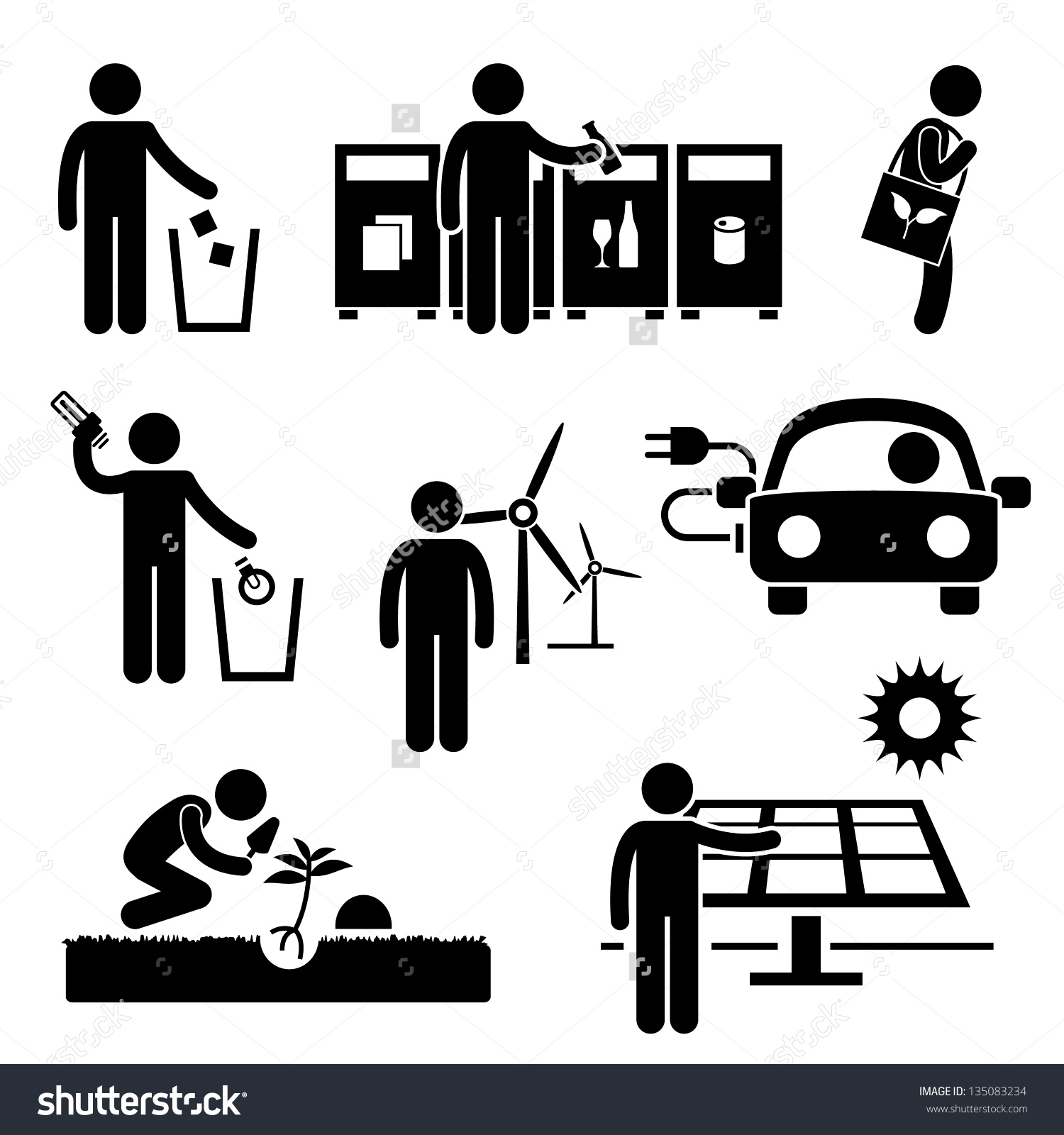 Save energy save environment clipart jpg download Man People Recycle Green Environment Energy Stock Vector 135083234 ... jpg download