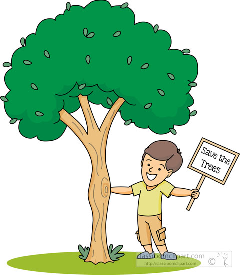 Save environment clipart free stock Environment : holding-save-a-tree-sign-clipart : Classroom Clipart free stock