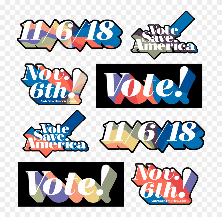 Save for america clipart clip freeuse download Vote Save America Sticker Pack - Pod Save America Vote ... clip freeuse download