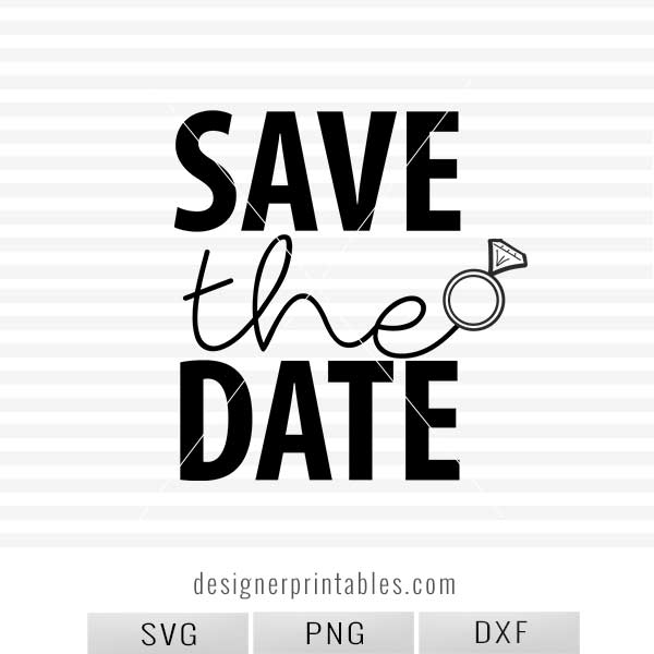 Save the date clipart banner free stock SVG, PNG, DXF: , Save the Date (wedding ring) banner free stock