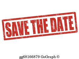 Save the date clipart picture freeuse stock Save The Date Clip Art - Royalty Free - GoGraph picture freeuse stock