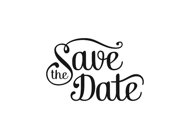 Save the date logo clipart picture black and white Save-the-date-black-and-white-clipart-3 - Sanibel Community ... picture black and white