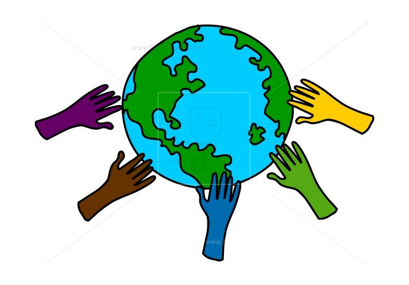 Save the planet clipart graphic black and white Earth and hands, save earth concept | Free vectors ... graphic black and white