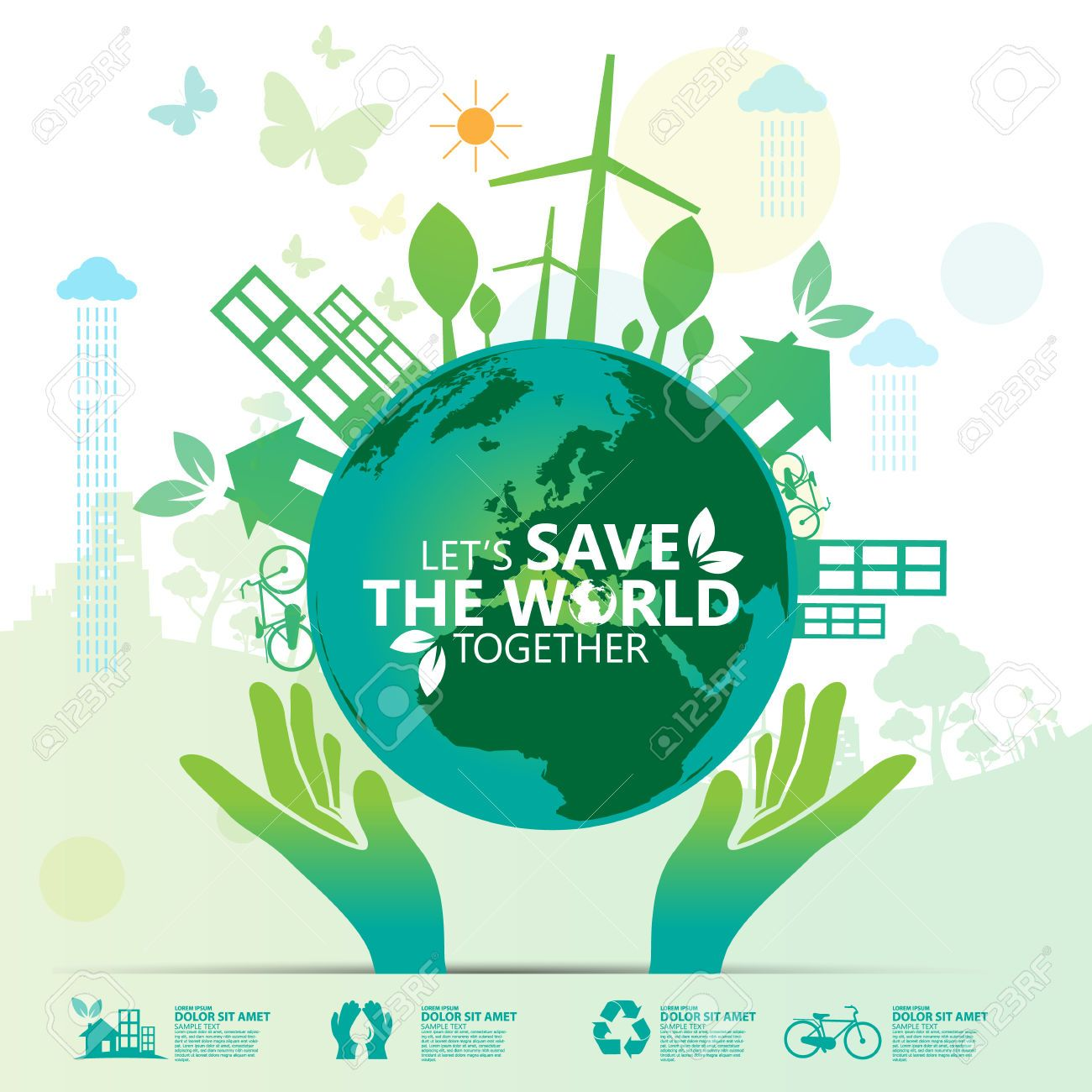 Save the world free clipart svg free download Stock Vector | OHOW | Environment, Let it be, World svg free download