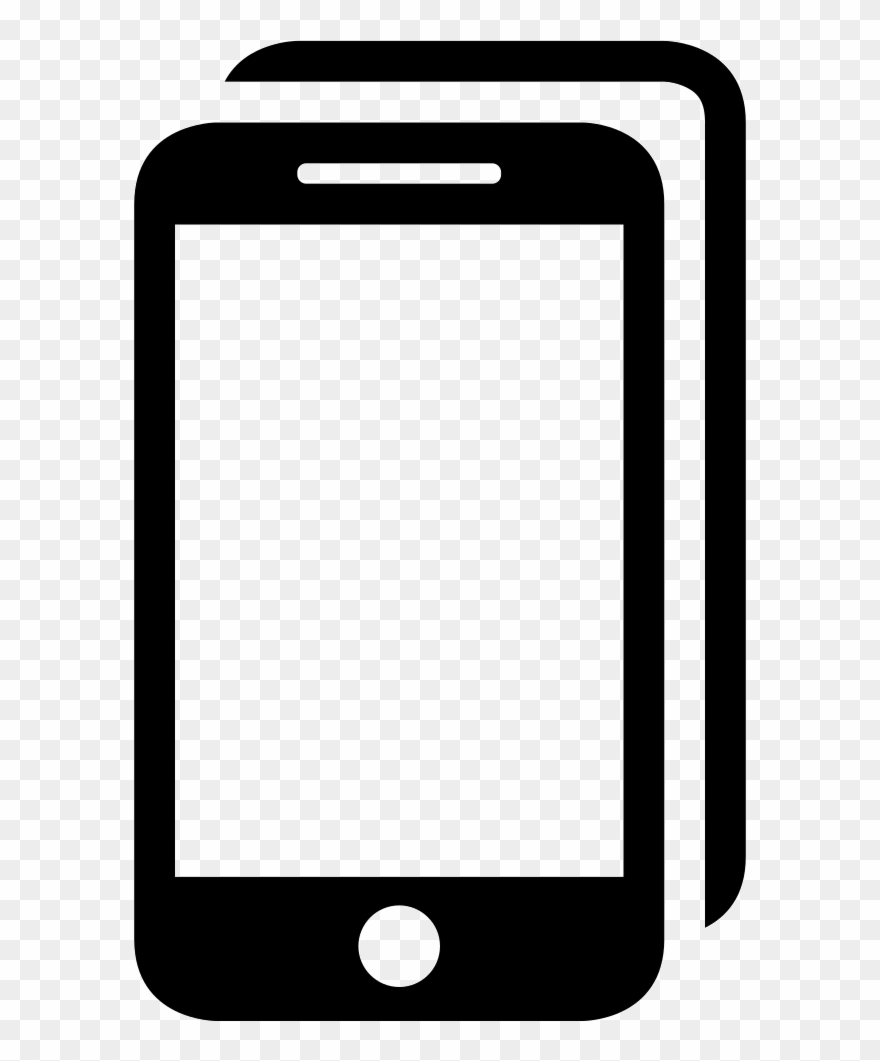 Saved by the bell cell phone clipart image black and white download Tablet Or Tool Symbol - Png Symbol For Cell Phone Clipart ... image black and white download