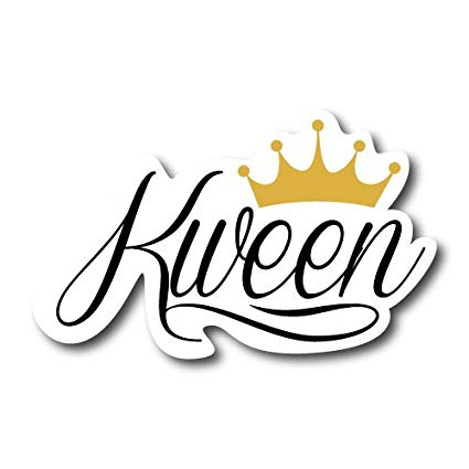 Saving our kweens clipart graphic freeuse library Amazon.com: Kween Queen Sticker Car Broad City Feminist ... graphic freeuse library