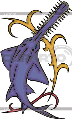 Sawfish clipart graphic library download Sawfish | Stock Photos and Vektor EPS Clipart | CLIPARTO graphic library download