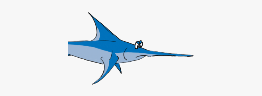 Sawfish clipart svg transparent stock Swordfish Clipart Sawfish - Swordfish, Cliparts & Cartoons ... svg transparent stock