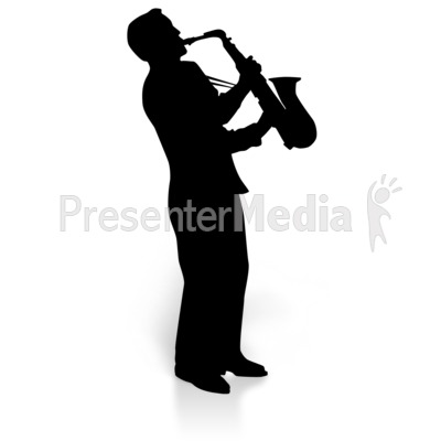 Sax player clipart black and white library Saxaphone Player Music - Education and School - Great ... black and white library