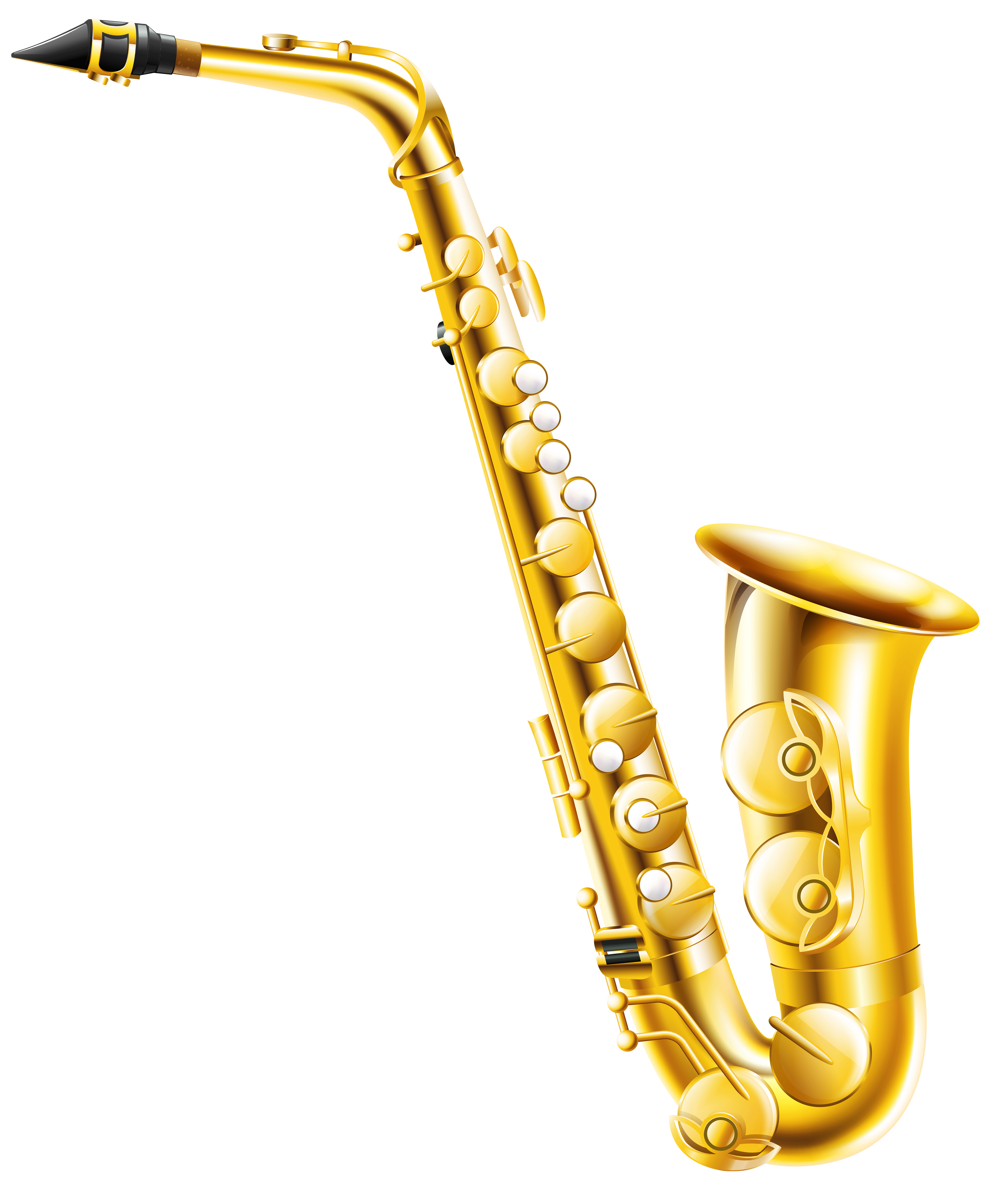 Saxofono clipart svg free Transparent Saxophone PNG Clipart | Gallery Yopriceville ... svg free