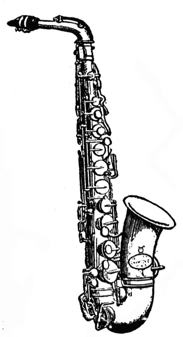 Saxophone clipart black and white vector freeuse stock saxophone clipart black and white   www.thelockinmovie.com vector freeuse stock