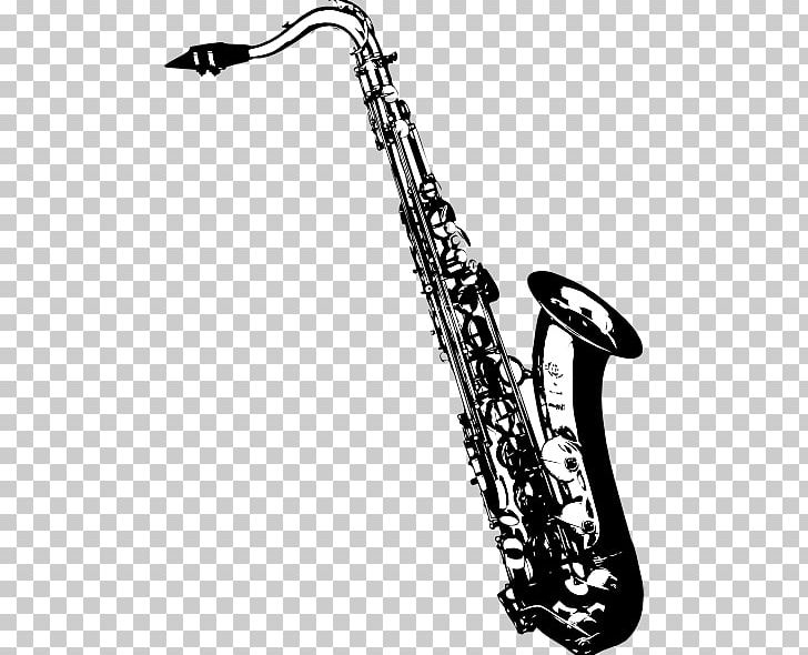 Saxophone clipart black and white royalty free library Tenor Saxophone Drawing PNG, Clipart, Alto Saxophone, Bass ... royalty free library