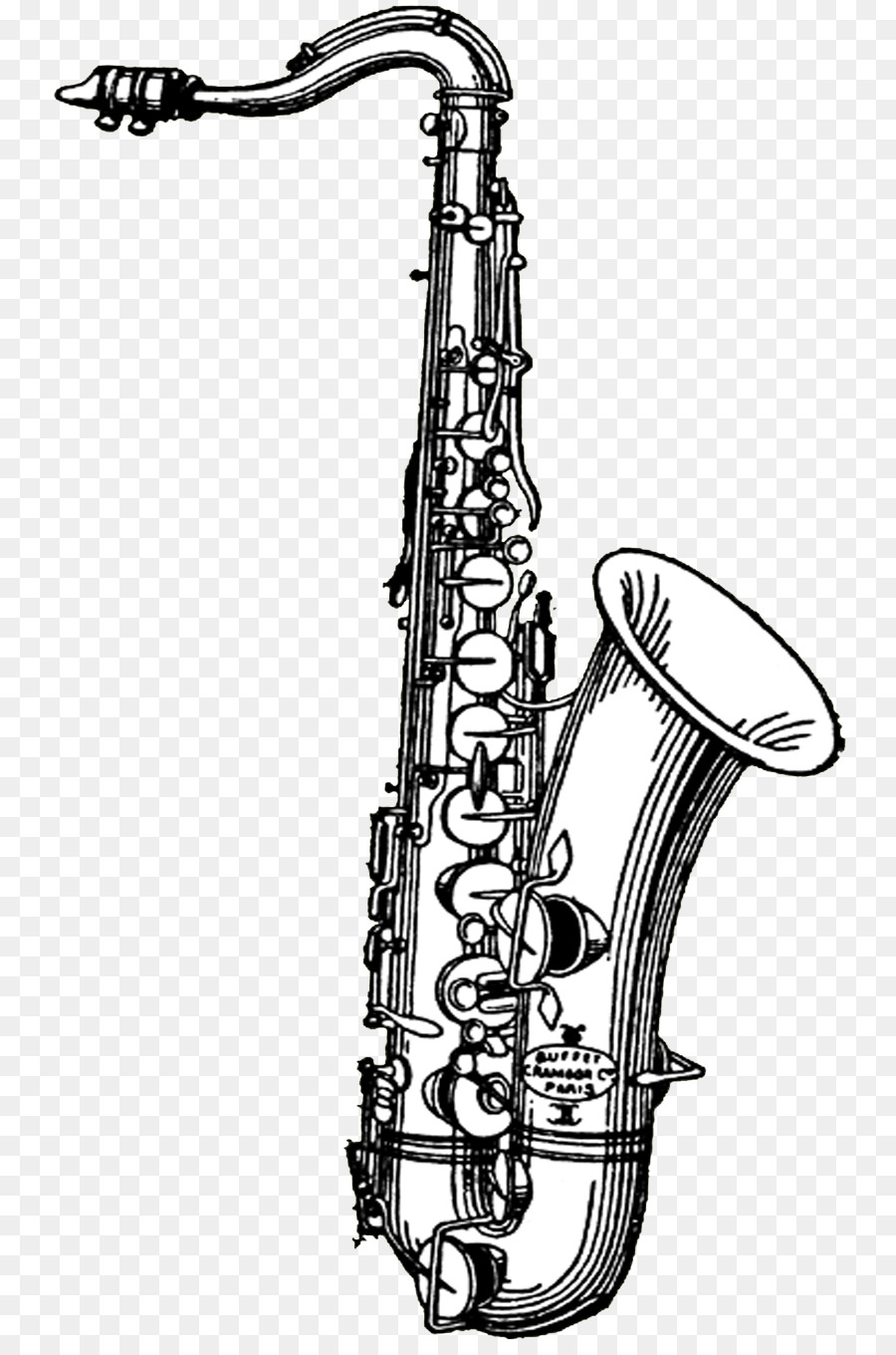 Saxophone clipart black and white banner transparent Drawing Of Family png download - 810*1350 - Free Transparent ... banner transparent