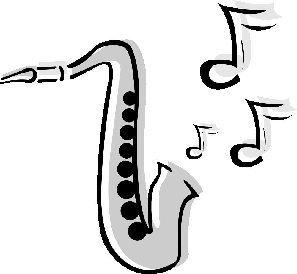 Saxophone clipart black and white clip black and white stock Free Saxophone Clip, Download Free Clip Art, Free Clip Art ... clip black and white stock