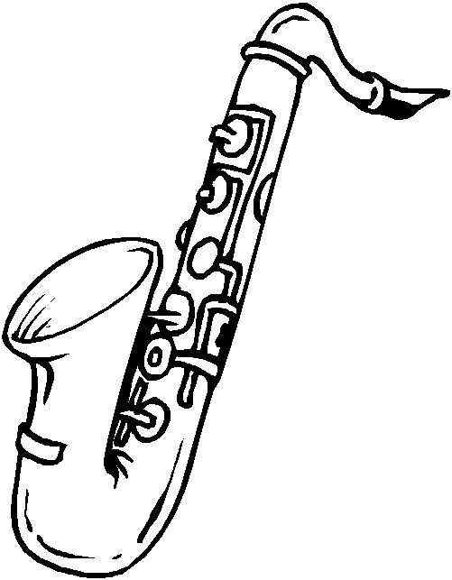 Saxophone clipart black and white picture free stock Sax Clipart   Free download best Sax Clipart on ClipArtMag.com picture free stock