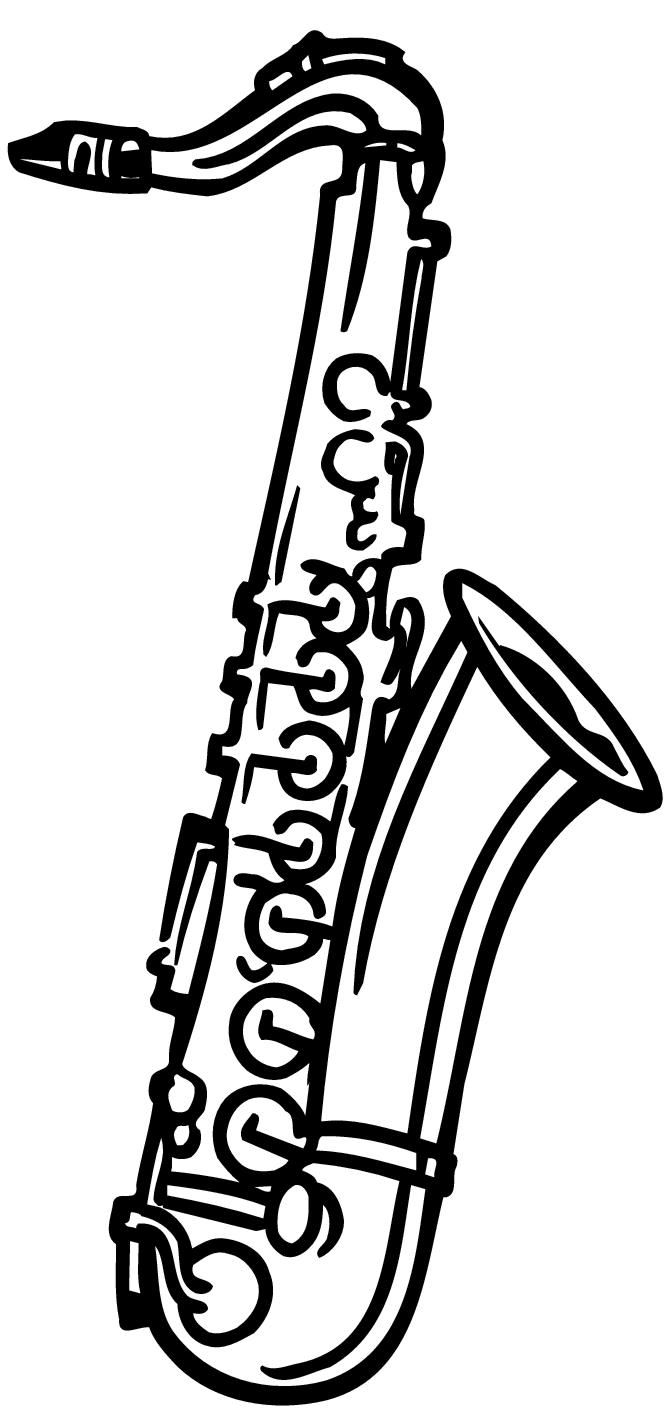 Saxophone clipart black and white png library download Saxophone Black And White   Free download best Saxophone ... png library download