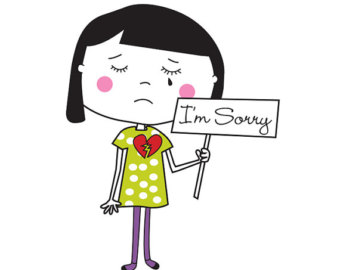 "I m sorry for your loss color clipart jpg royalty free library Should we teach toddlers to say ""I\'m sorry"" 