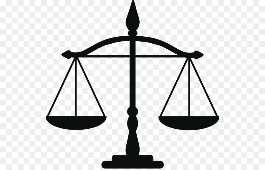 Scales of justice black and white clipart vector transparent stock Lady Justice Black And White png download - 592*575 - Free ... vector transparent stock