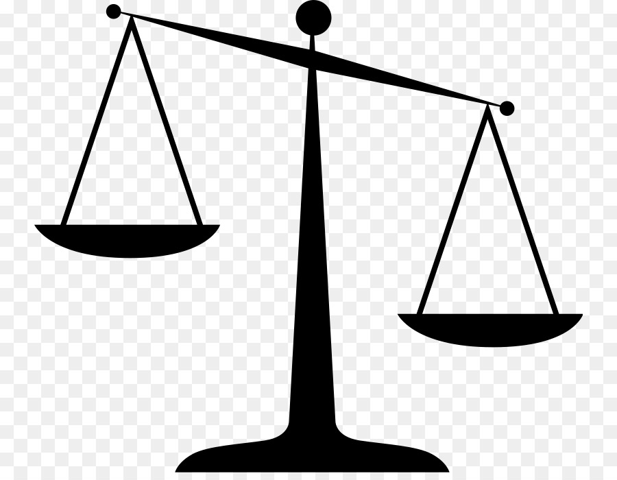 Scales of justice black and white clipart graphic free download Measuring Scales Black And White png download - 800*689 ... graphic free download