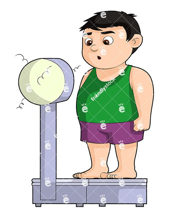 Scall clipart for kids vector library stock An Overweight Boy On A Scale That Couldn\'t Take His Weight ... vector library stock
