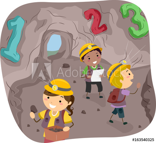 Scalling a cave clipart vector freeuse Stickman Kids 123 Cave Illustration - Buy this stock vector ... vector freeuse
