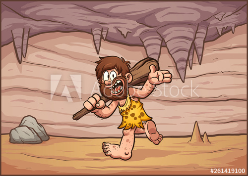Scalling a cave clipart image library stock Cartoon caveman walking in a cave interior background clip ... image library stock
