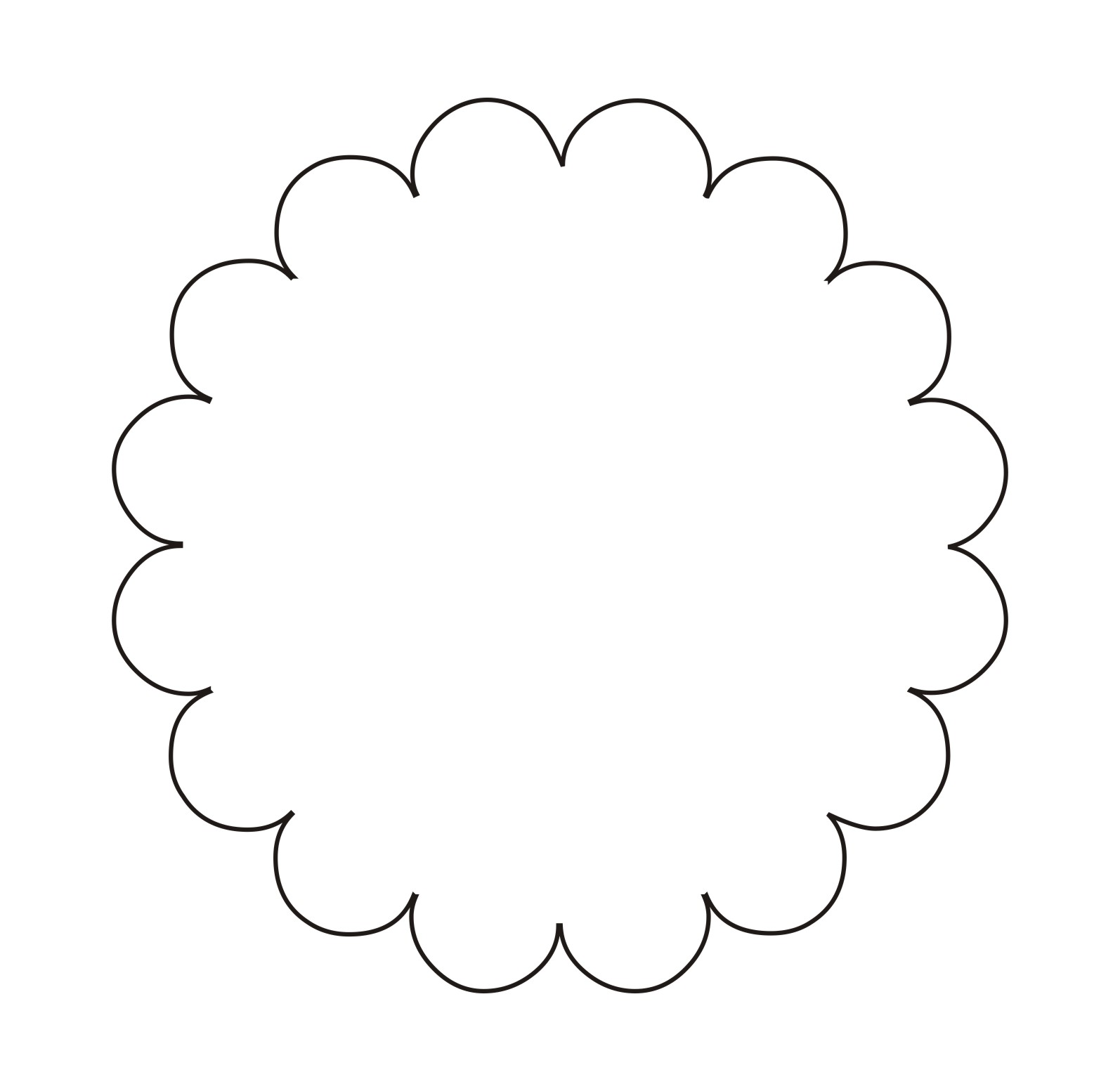 Scallop edge circle clipart black and white image library Free Scallop Cliparts, Download Free Clip Art, Free Clip Art ... image library