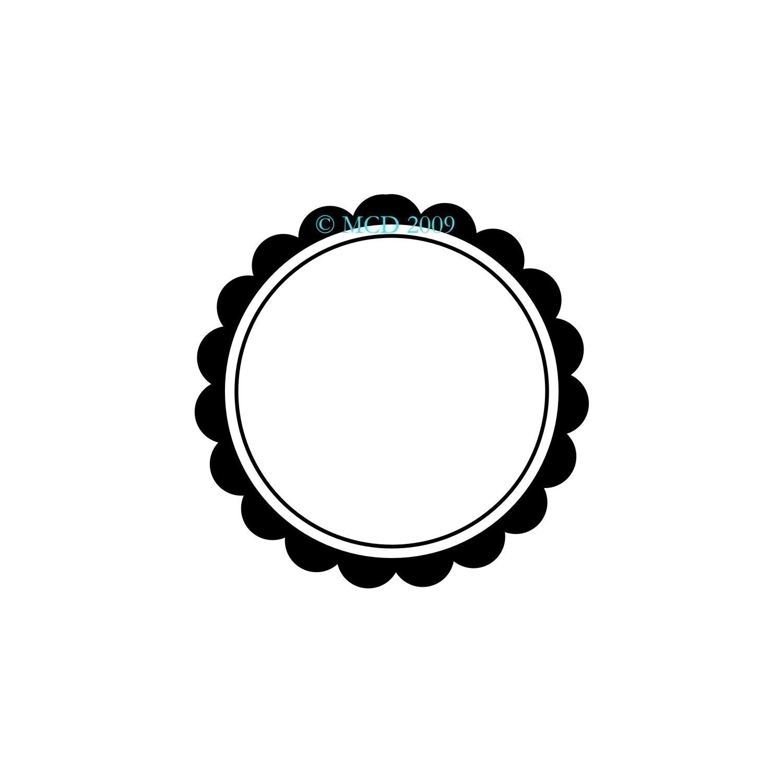 Scallop edge circle clipart black and white clip library library Free Scallop Cliparts, Download Free Clip Art, Free Clip Art ... clip library library