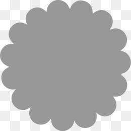Scallop edge circle clipart black and white jpg black and white Scallop PNG - Scalloped Circle, Scalloped Border, Scalloped ... jpg black and white