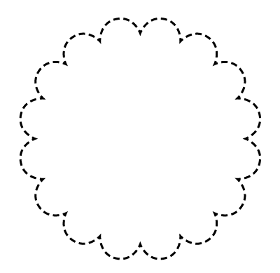 Scallop edge circle clipart black and white clipart free library How to create objects with scalloped edges in Adobe InDesign ... clipart free library