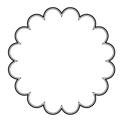 Scallop edge circle clipart black and white picture freeuse library 104 views | Candels | Circle template, Art template ... picture freeuse library