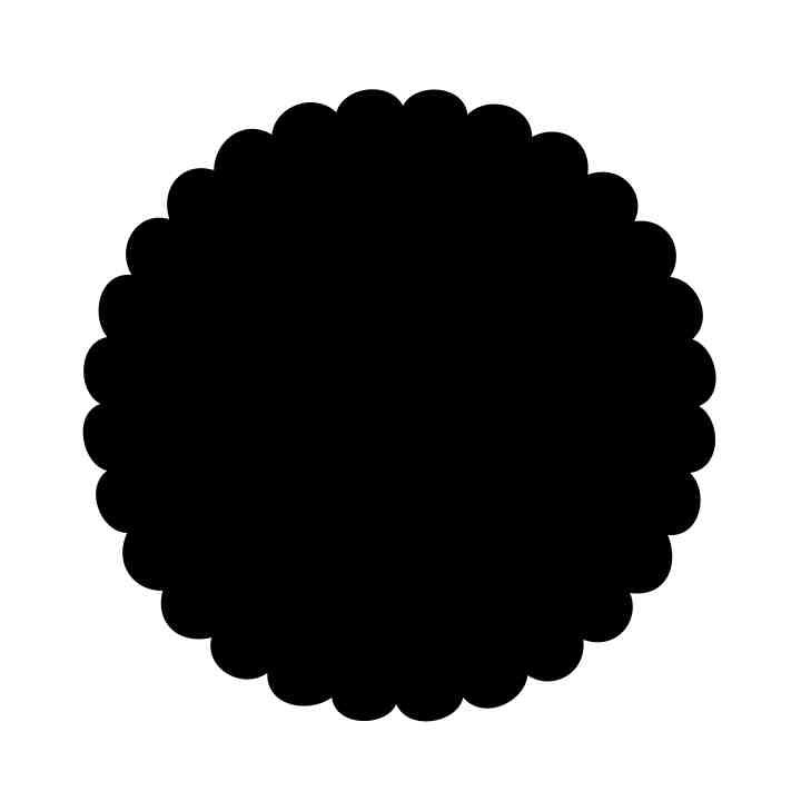 Scallop edge circle clipart black and white picture download free scalloped circle svg | Free SVG Download – Scalloped ... picture download