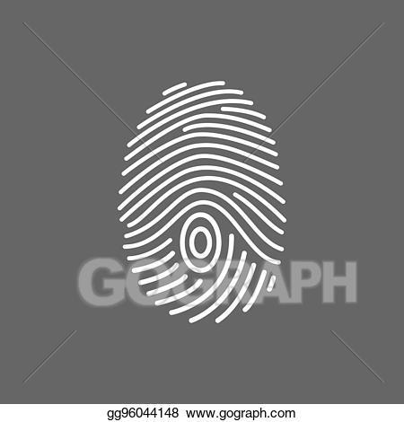 Scan lines clipart jpg freeuse Vector Art - Fingerprint scan icon. white lines. Clipart ... jpg freeuse