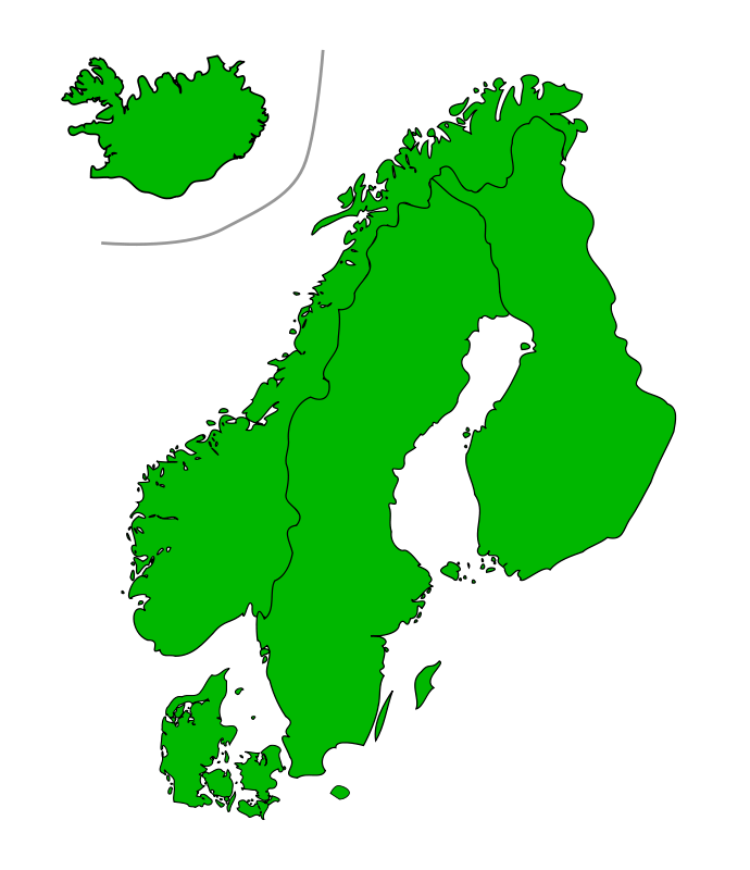 Scandinavia clipart graphic freeuse library Free Clipart: Map Of Scandinavia | Jarno graphic freeuse library
