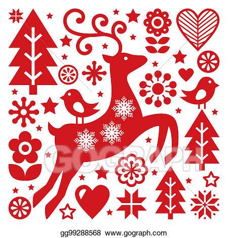 Scandinavian christmas clipart vector transparent download Stock Illustration - Scandinavian christmas vector pattern ... vector transparent download