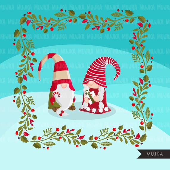 Swedish clipart graphic royalty free library Christmas gnomes Clipart. Scandinavian Gnome graphics, Tomte ... graphic royalty free library