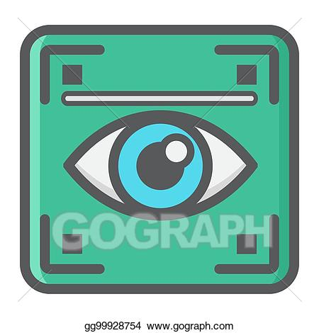 Scanner logo clipart image Vector Art - Eye scan colorful line icon, iris scanner. EPS ... image