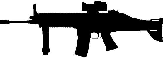 Scar h clipart image black and white Rifles clipart scar h for free download and use images in ... image black and white