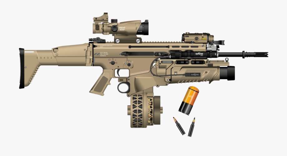 Scar h clipart banner black and white download Clipart Free Scar H With Magazine - Scar H Drum Magazine ... banner black and white download