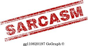Scarcaum clipart free library Sarcasm Clip Art - Royalty Free - GoGraph free library